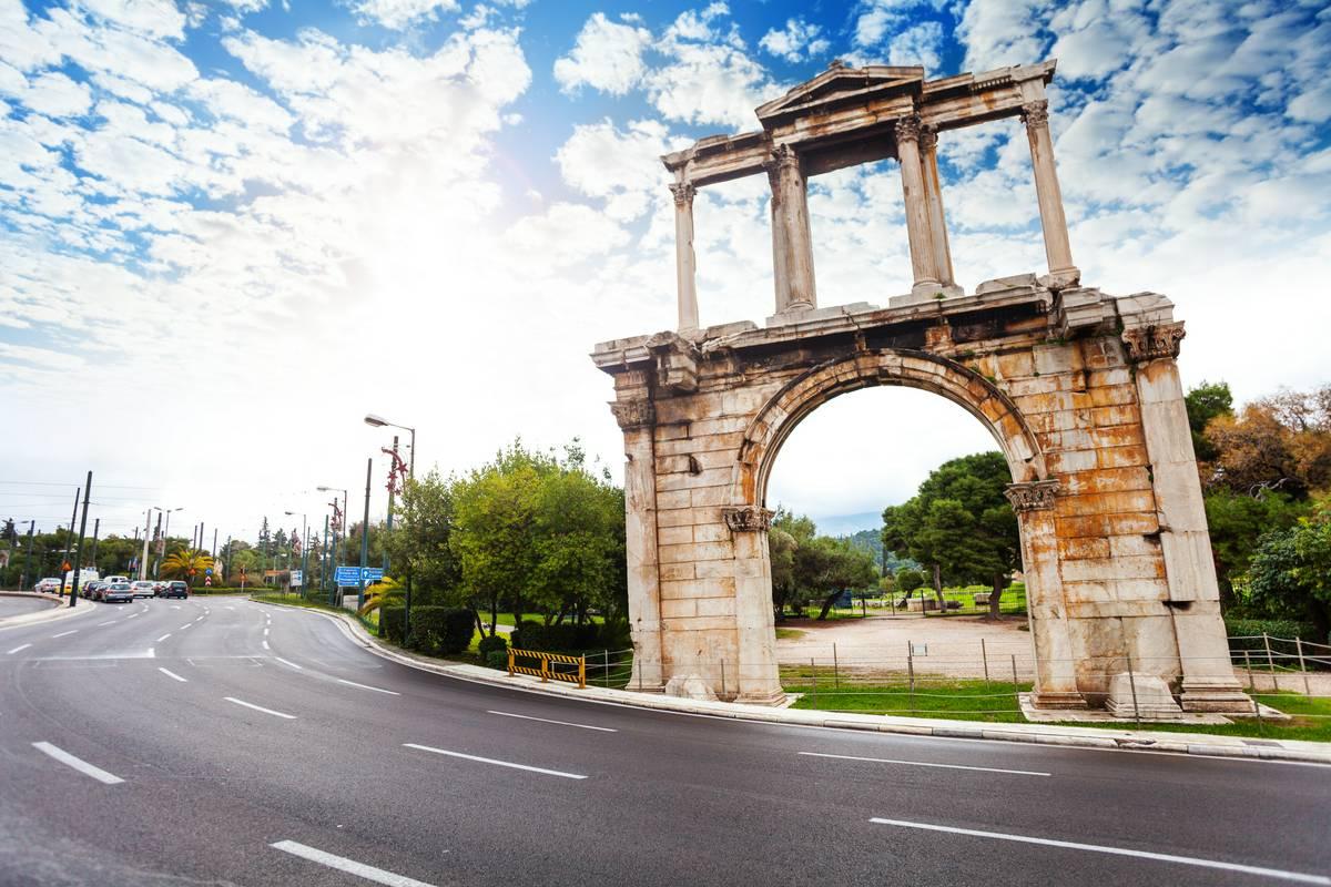 Arch of Hadrian, Athens - RueBaRue