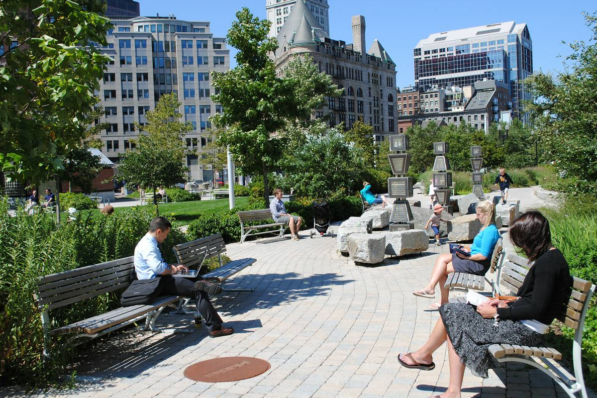 Rose fitzgerald kennedy greenway boston ruebarue for Famous public places